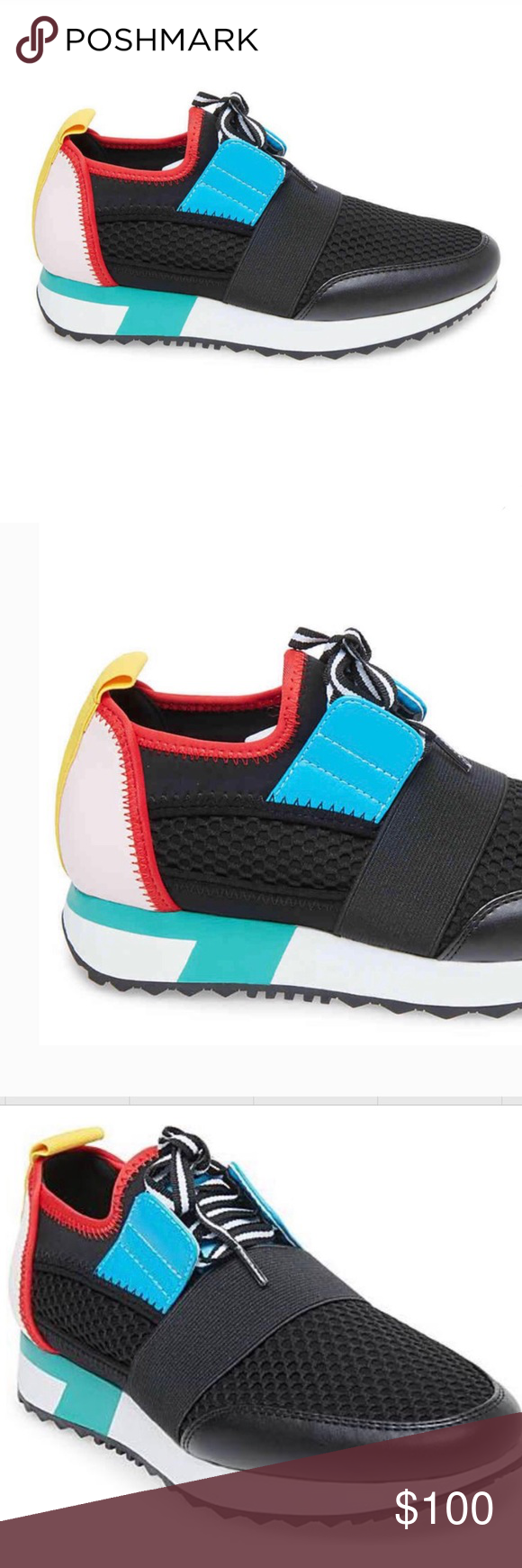 ecfeb8d1a65 Steve Madden Arctic Sneakers colorblock NWT These will be your new ...