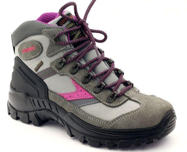 Trekkingi Z Membrana Grisport 13316 Szare Rozowe Hiking Boots Boots Shoes