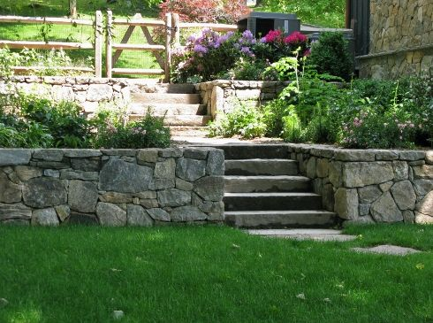 Quarry Weather Natural Edge Steps Landscaping Retaining Walls Stone Veneer Wall Retaining Wall Patio