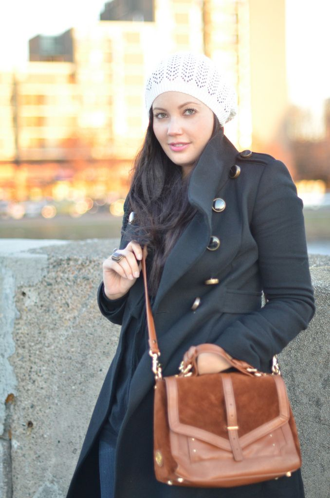 Love how she wears that hat... perfect for Boston winter!