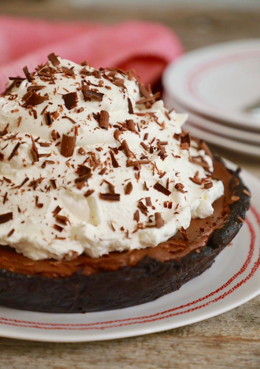 No Bake Chocolate Pie With Only 5 Ingredients Recipe Chocolate