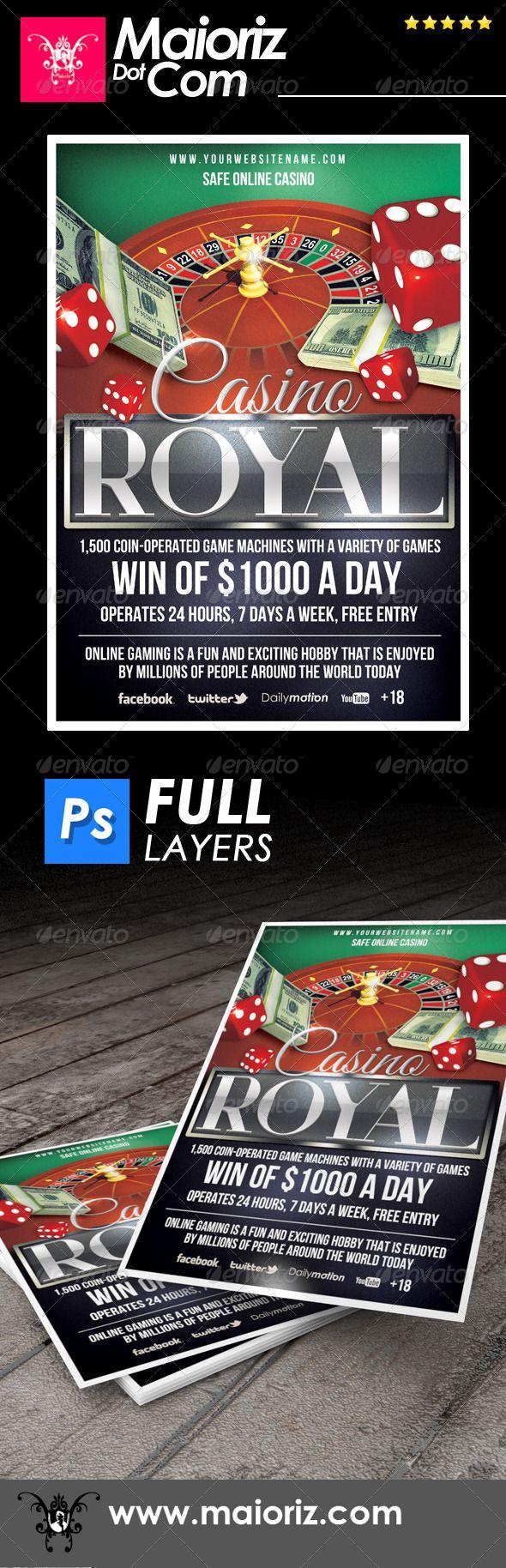 Casino Online Flyer Dices Gambling Download Here Https