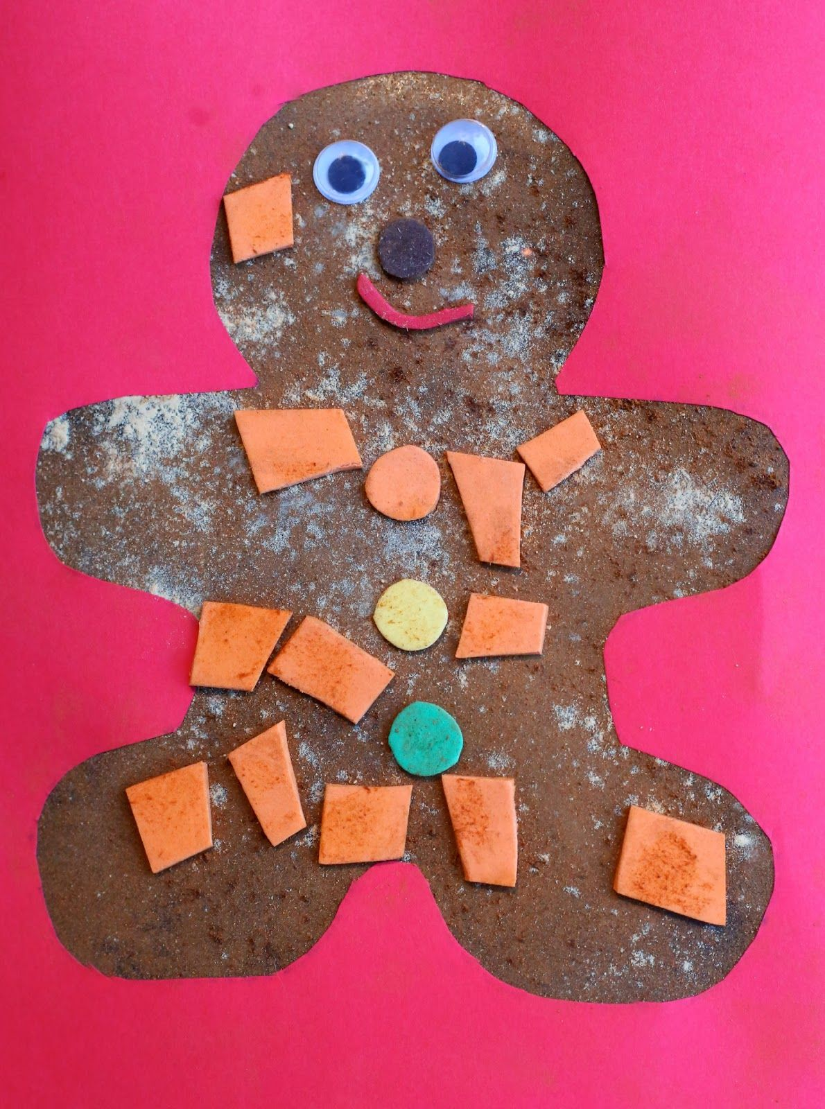 Christmas Craft For Kids Scented Gingerbread Man Art Gingerbread man art activities for