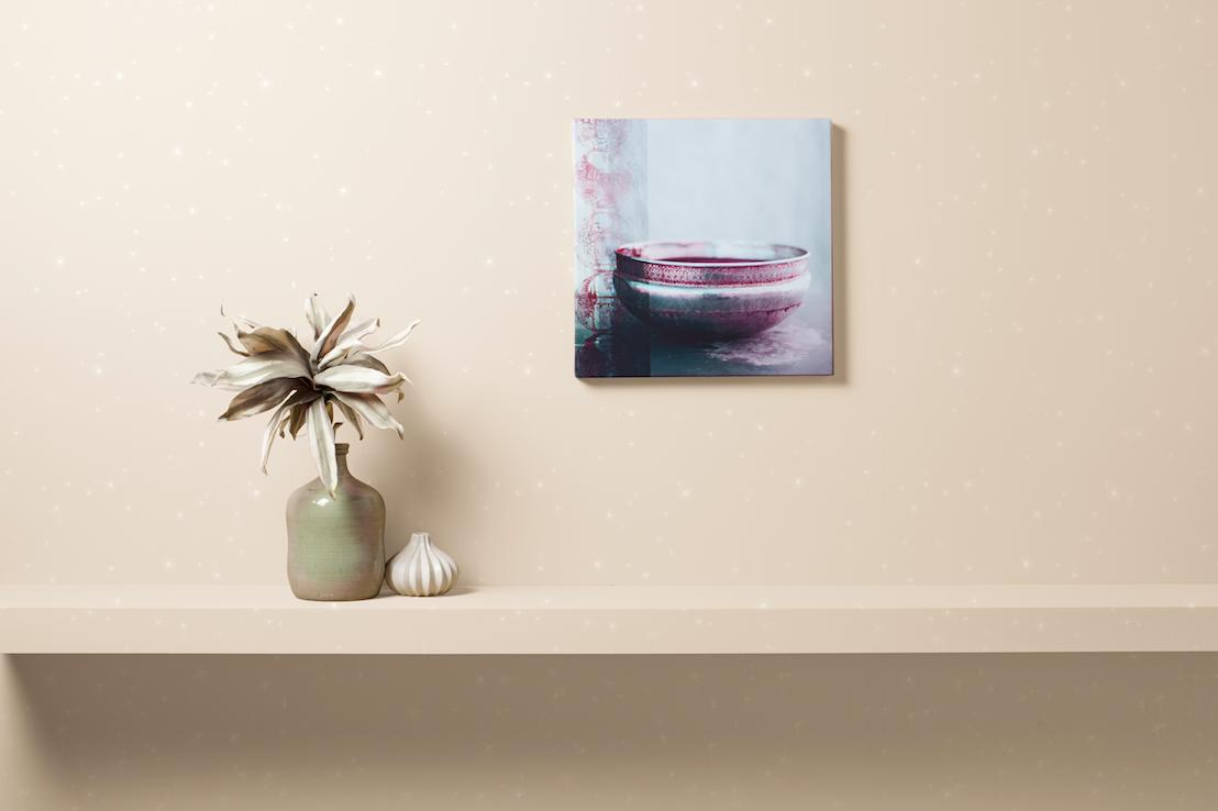 La pintura con efecto paillett da un toque m gico y sutil - Color arena pared ...