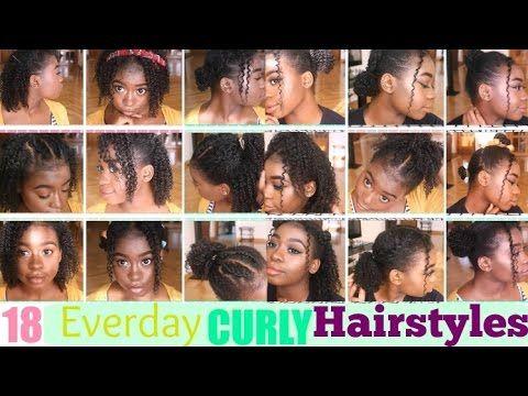 18 Super Easy Everyday Curly Hairstyles For Short Medium Natural Hair For School Hey Gu Short Natural Curly Hair Curly Hair Styles Naturally Curly Hair Styles