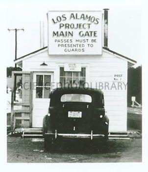 Main gate of Los Alamos laboratory, 1943