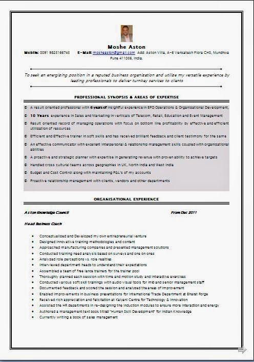 Best Sample Of Curriculum Vitae Sample Template Example