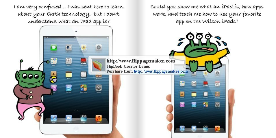 StoryPatch app on iPad used to create a digital story and