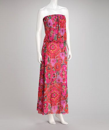 Take a look at this Amberwood Splash Strapless Maxi Dress by Sweet Pea by Stacy Frati on #zulily today! $50