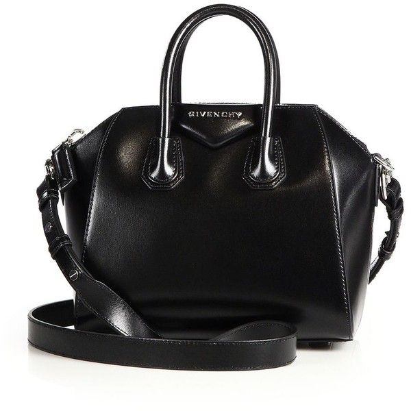 Givenchy Antigona Mini Glazed Leather Satchel 1 275 Liked On Polyvore Featuring Bags