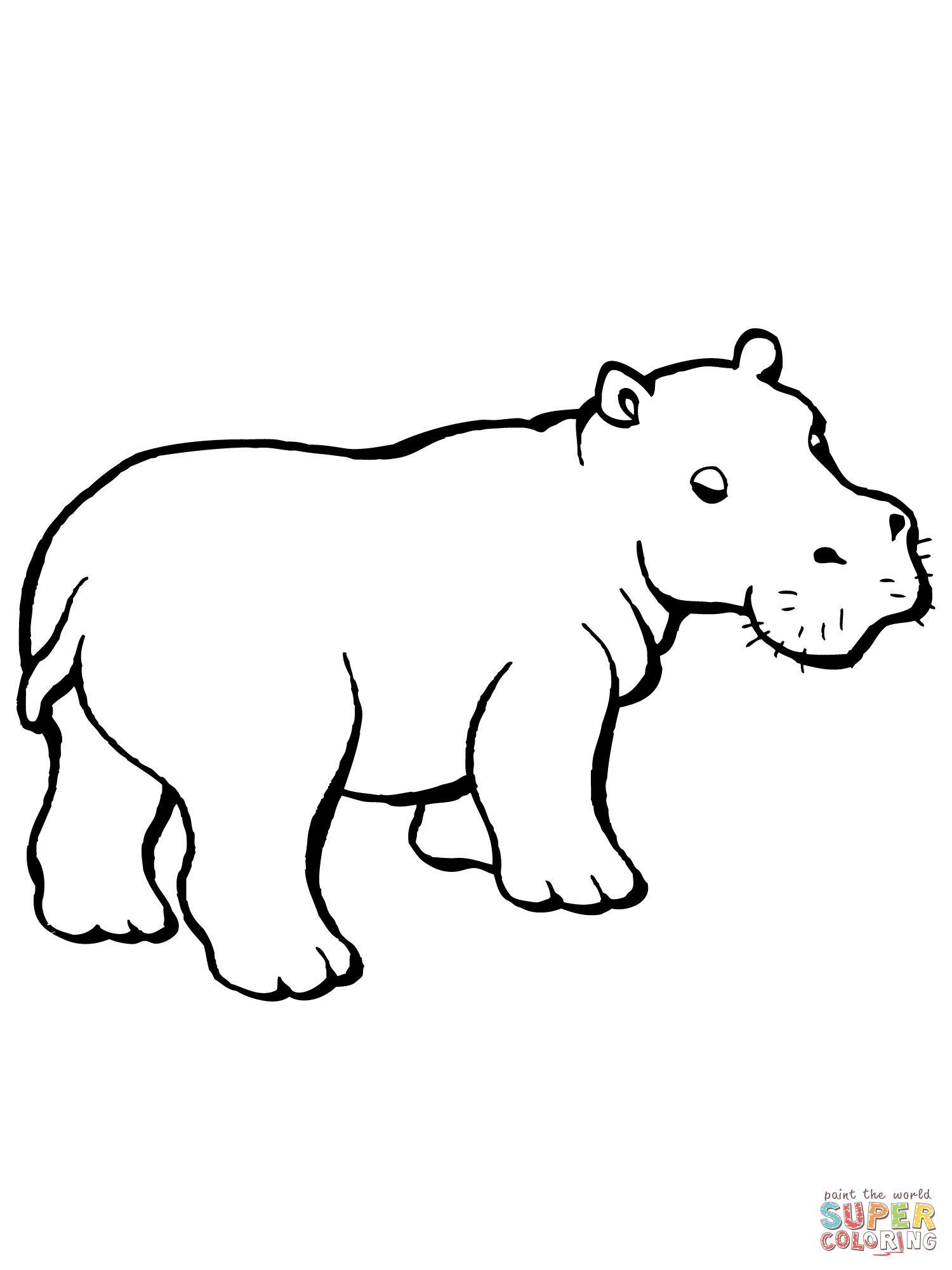 Hippo Clipart Black And White Google Search Hippo Drawing Cute Hippo Black And White Google