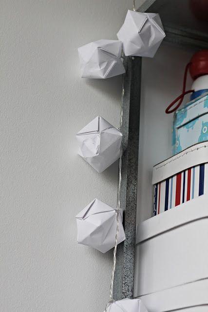 mariefriis: Origami lysslynge