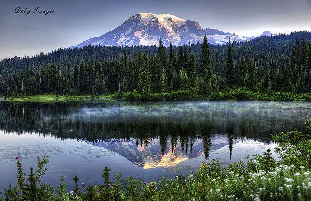 Good Morning Mt. Rainier by Deby Dixon Photography