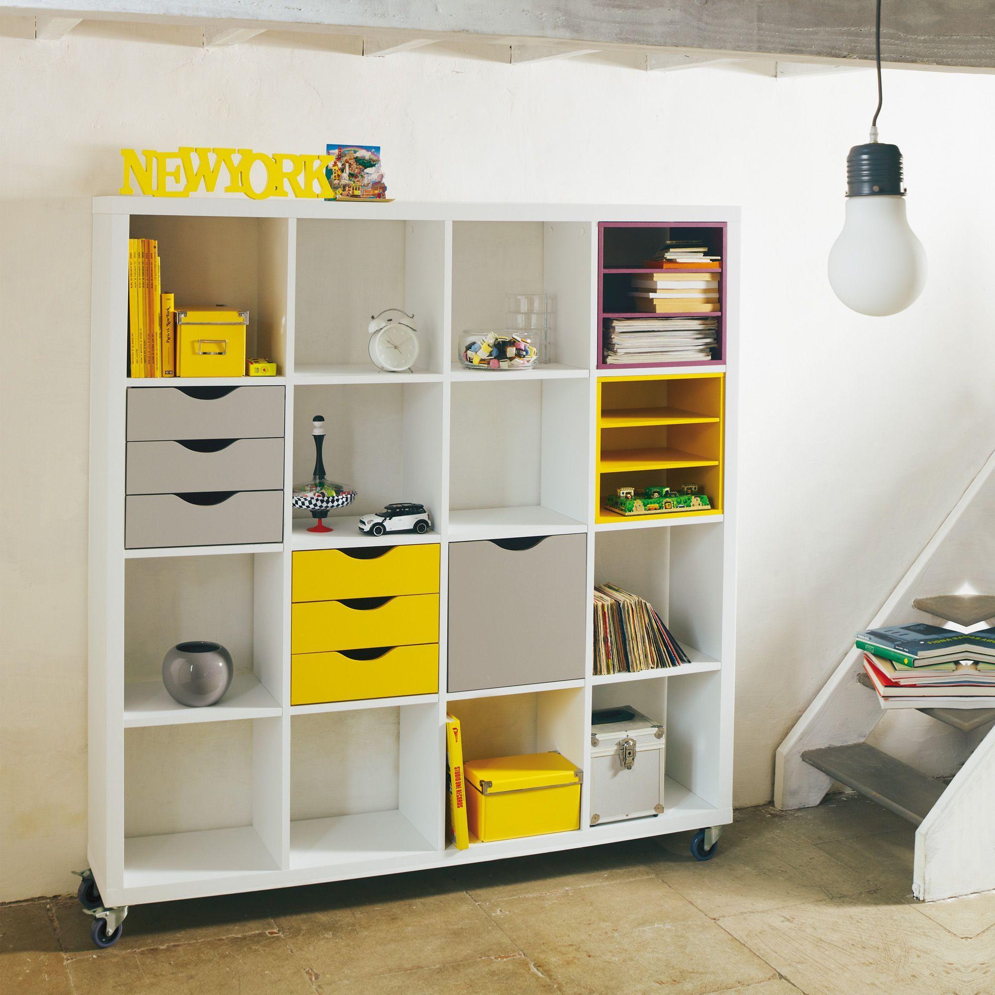 lot de 2 tag res blanches kubico tag res composer etag res livings composer tout pour. Black Bedroom Furniture Sets. Home Design Ideas