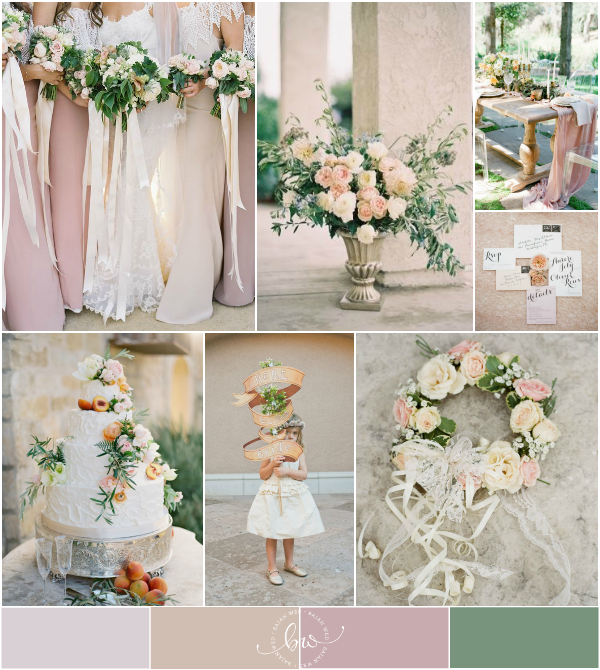 Blush Pink, Peach, Dusty Rose And Cream Wedding