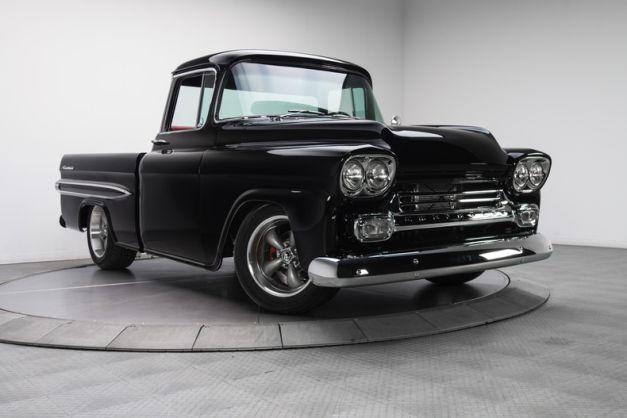 1959 Jet Black Chevrolet Apache Ls2 V8 Pickup Truck Chevrolet Apache Pickup Trucks Classic Chevy Trucks