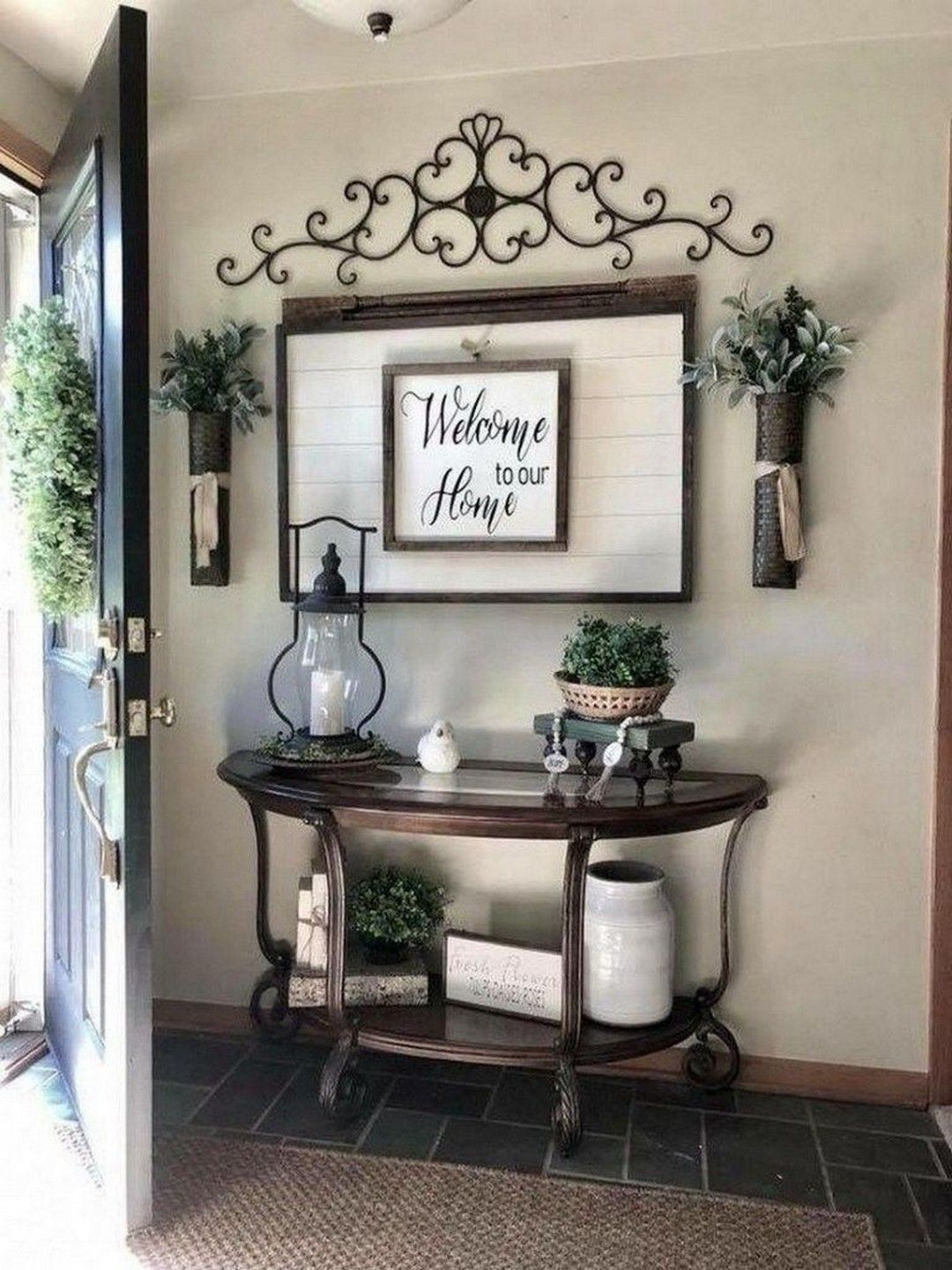 Gorgeous Diy Farmhouse Furniture And Decor Ideas For A Rustic Country Home Diy Crafts Rustic Apartment Decor Farm House Living Room Entry Table Decor