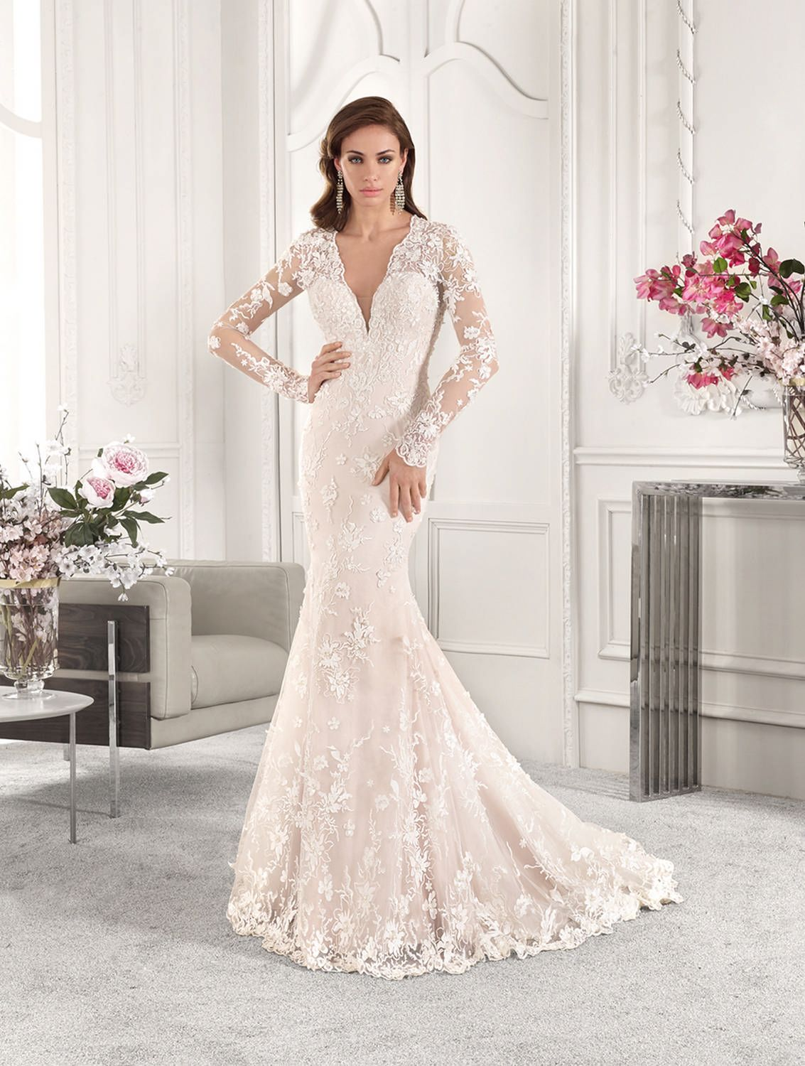 Demetrios wedding dress style vow renewal in