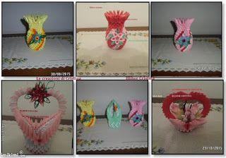 Le creazioni di Cristina: Vasetti origami 3d