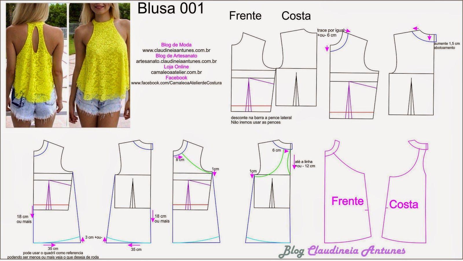 67a13a2125 Modelagem Blusa Gode de Gola Alta