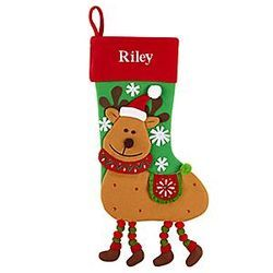 Personalized Reindeer Character Stocking
