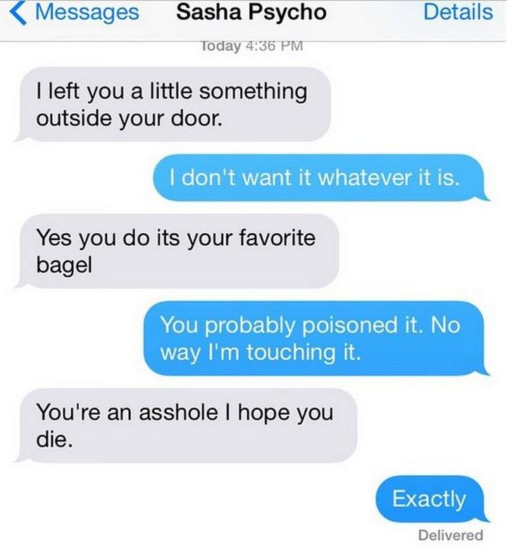Funny stalker texts
