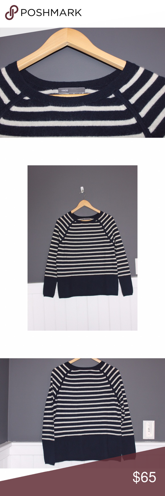 VINCE cashmere sweater Beautiful sweater in excellent condition from VINCE! this is a relatively lightweight cashmere, so it would be a lovely layering piece going into spring! Vince Sweaters Crew & Scoop Necks