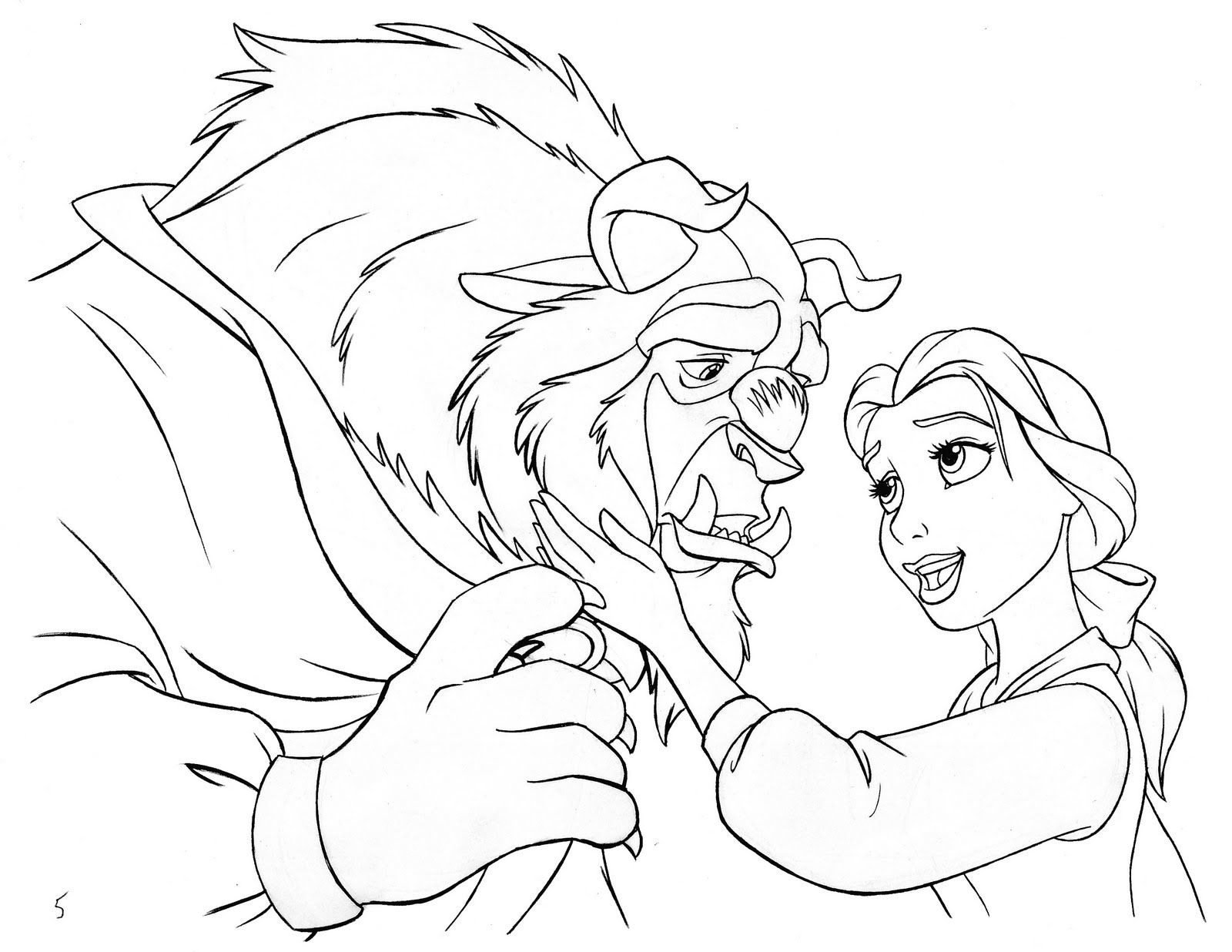 disney beauty and the beast coloring page beauty and the beast