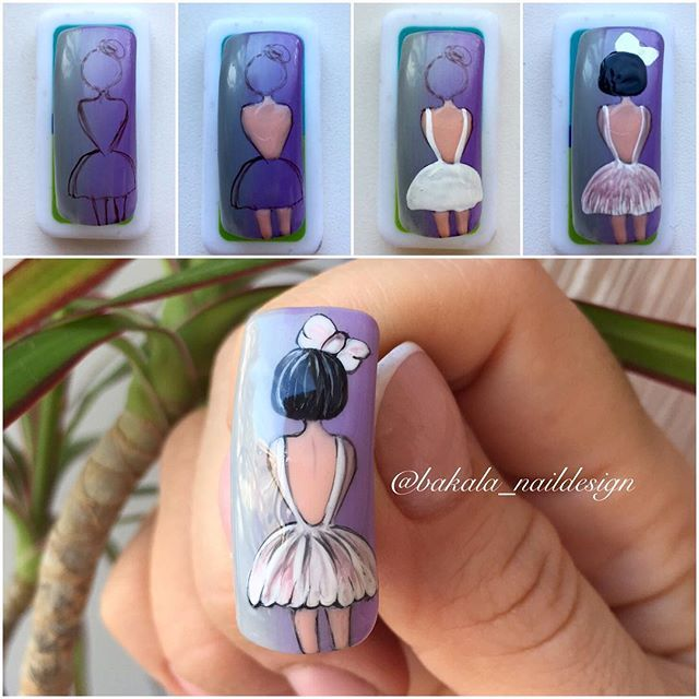 Paso A Paso Munecas Dibujo Unas Manicure Pinterest Nails Nail