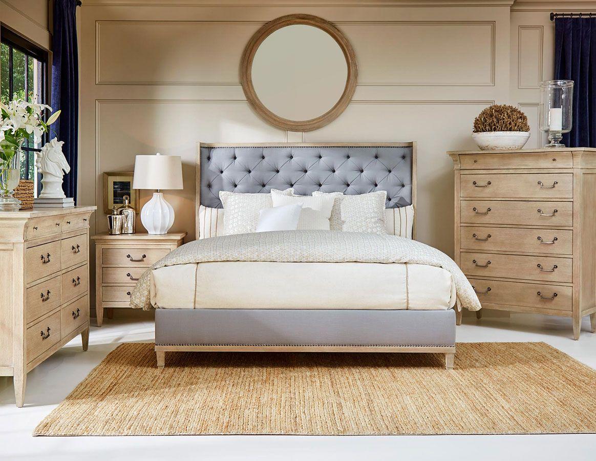 Artiste Jordan Bedroom Set W Anna Upholstered Bed In 2020