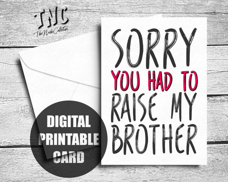 Funny fathers day card printable birthday card for mom