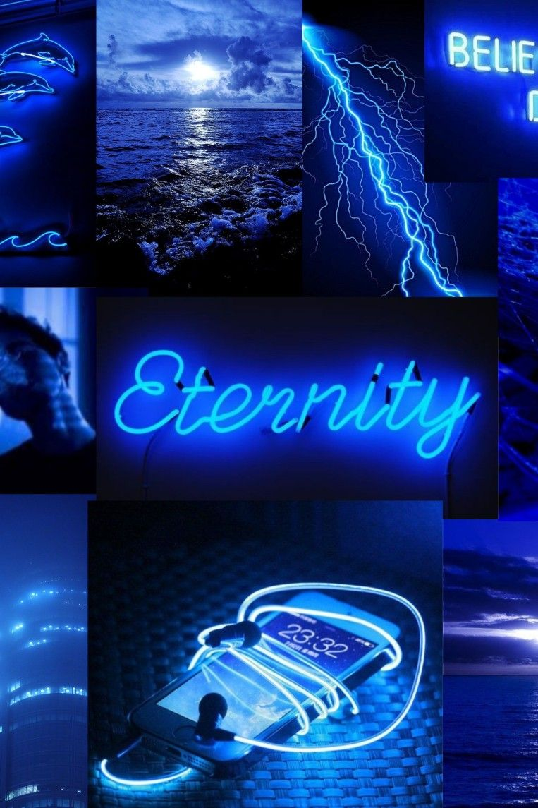 Dark Blue Aesthetic Wallpaper Vintage Blue Aesthetic Dark Blue Aesthetic Pastel Blue Aesthetic Electric blue neon neon wallpaper