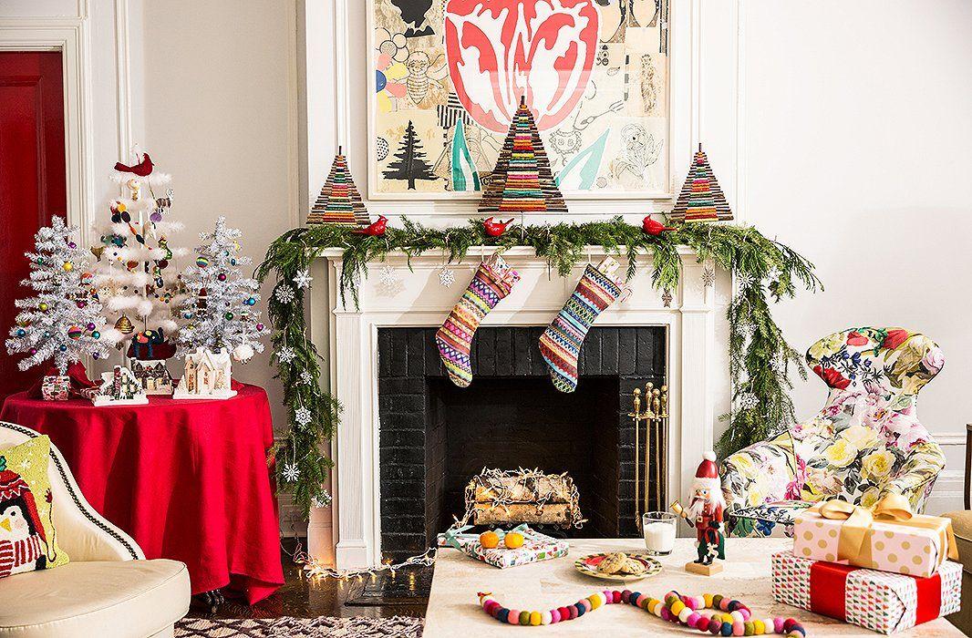 5 Festive Holiday Mantel Decorating Ideas holiday Pinterest