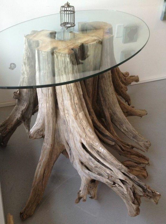 Treibholz Basteln Kaffeetisch Aus Holz Glasschale Diy Moebel