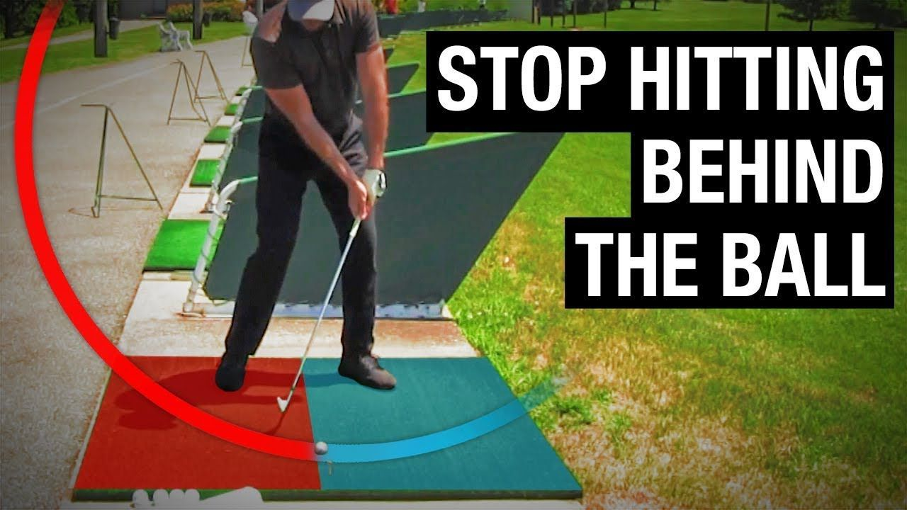 How to stop hitting behind the golf ball simple fix