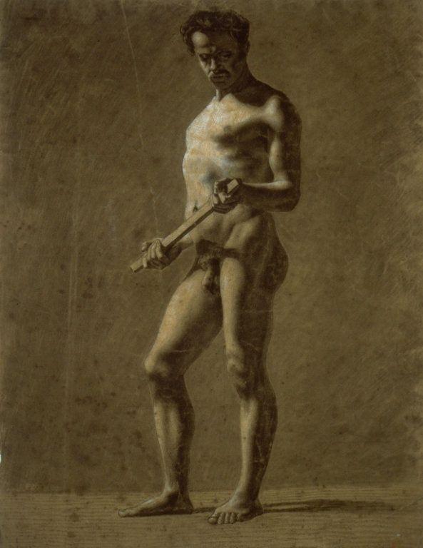 Body building breast nude