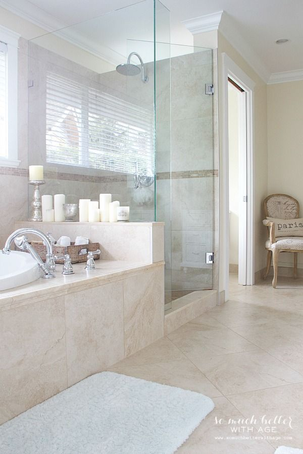 Beautiful Master Ensuite With Before Photos So Much Better With Age Master Bathroom Decor Bathroom Remodel Designs Bathroom Remodel Master