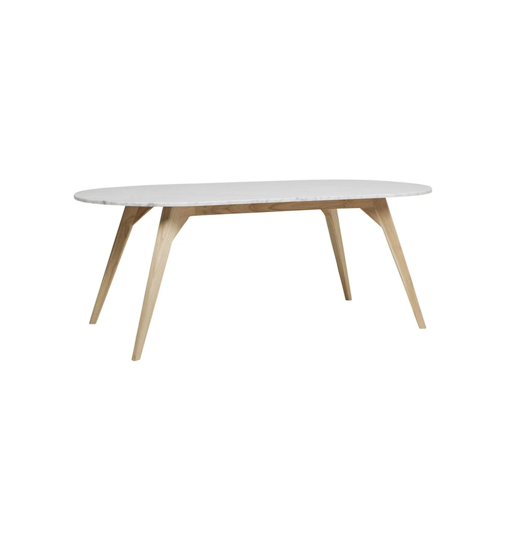 Woodrow Oval Marble Dining Table In White Oval Marble Dining Tables Dining Table Marble Marble Dining