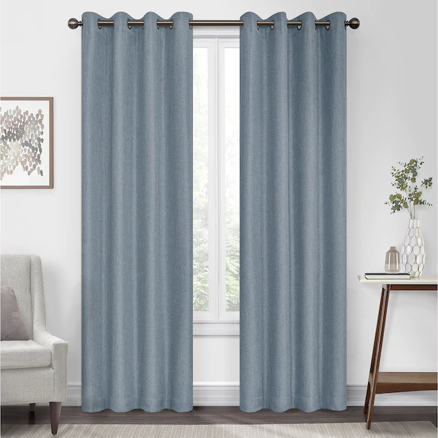 Eclipse Kira Herringbone Absolute Zero Blackout Window Curtain In 2020 Panel Curtains Colorful Curtains Blackout Windows