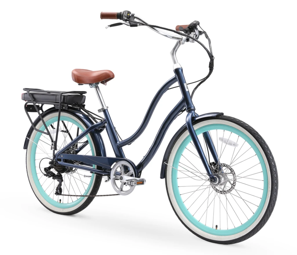 Sixthreezero Evryjourney Women S 26 500w 7 Speed Electric Hybrid Bicycle In 2020 Hybrid Bicycle Bicycle Hybrid Electric Bike