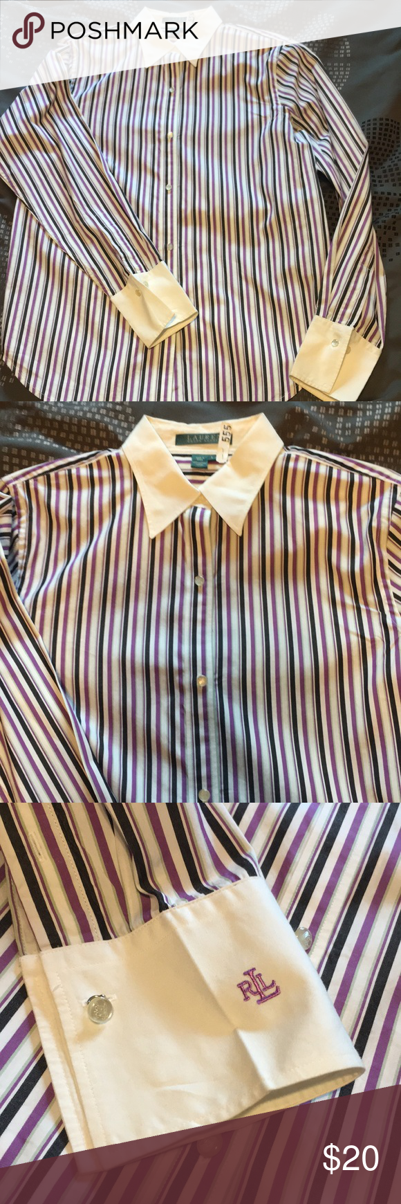 391d02879d Pinstripe Button Down Collared Dress Shirt – EDGE Engineering and ...