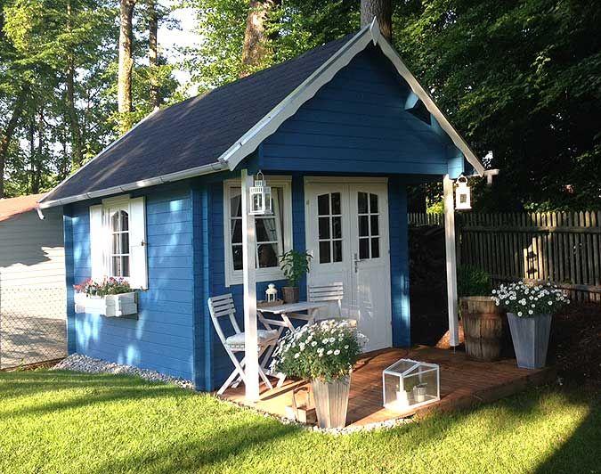 Gartenhaus schwedenstil grau  Gartenhaus Bunkie-40: Gelungener Aufbau und Einrichtung ...