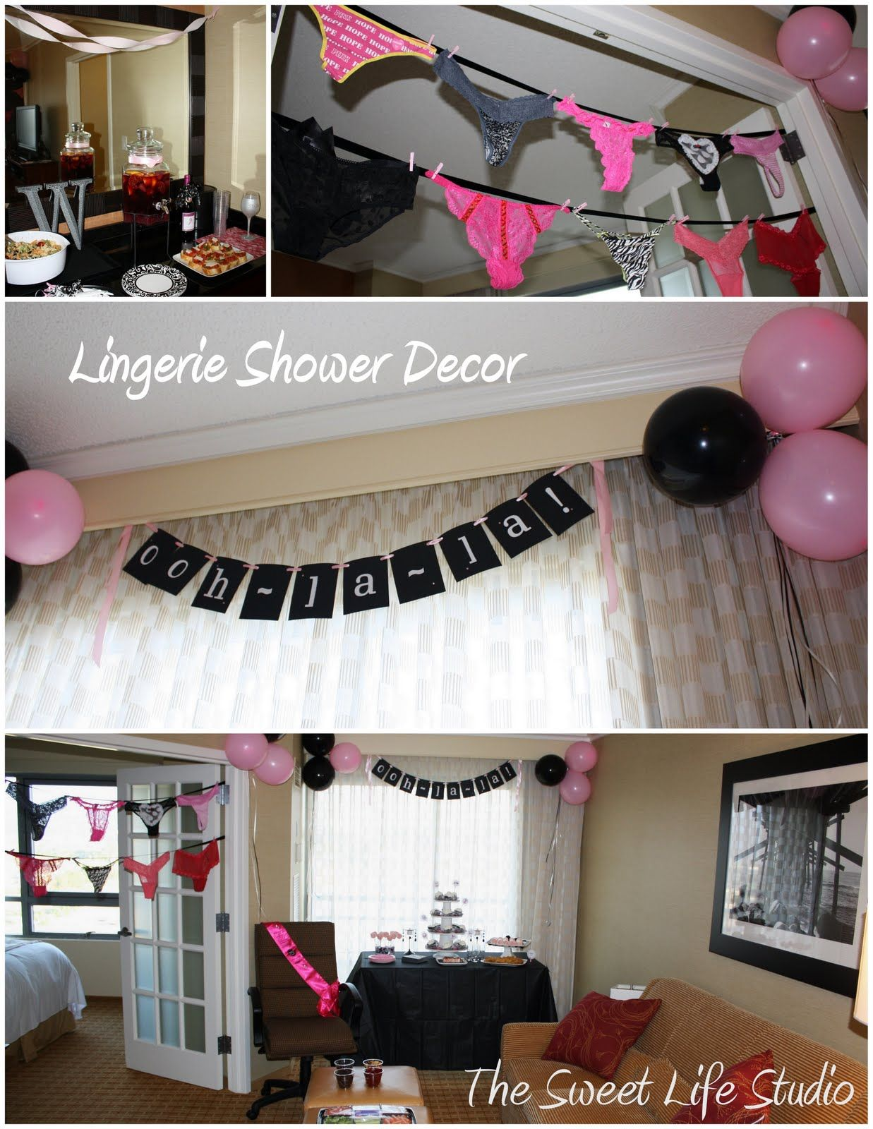 lingerie shower decorations got to use many of my gifts to the bride as decor so fun