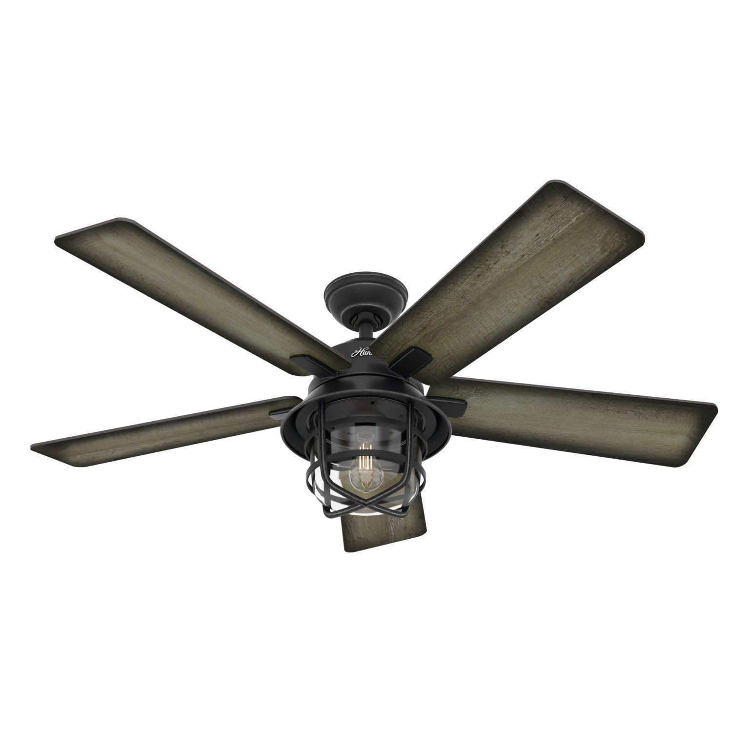 Coral Gables Outdoor With Led Light 54 Inch Weathered Zinc Burnished Grey Pine In 2021 Ceiling Fan Hunter Outdoor Ceiling Fans Led Ceiling Fan Outdoor ceiling fans on sale