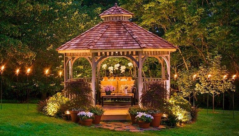 39 Nice Diy Backyard Gazebo Design Decoration Ideas Backyard Backyarddesign Backyarddecor Gazebohouse Backyard Gazebo Backyard Retreat Backyard
