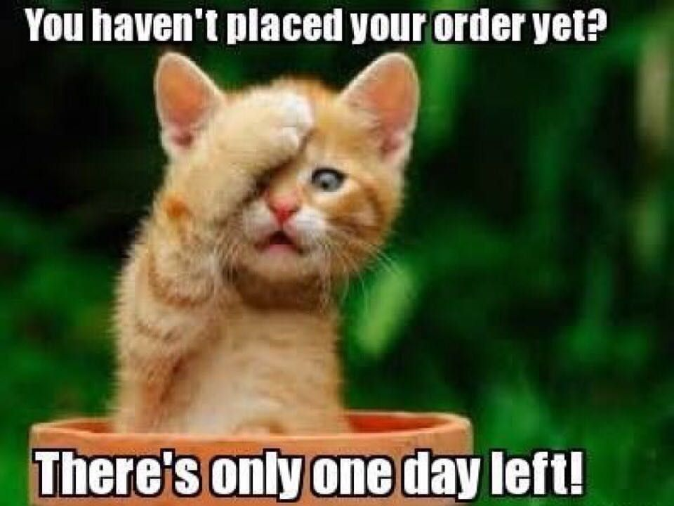 Today Is The Last Day To Order From My Party Please Get In Your