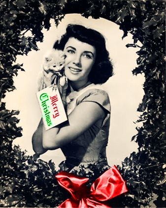 Elizabeth Taylor Christmas 1940s Christmas With The