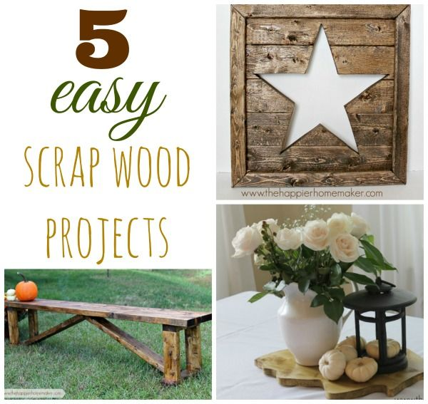 5 Easy Diy Projects With Scrap Wood Crafty 2 The Core Diy Galore