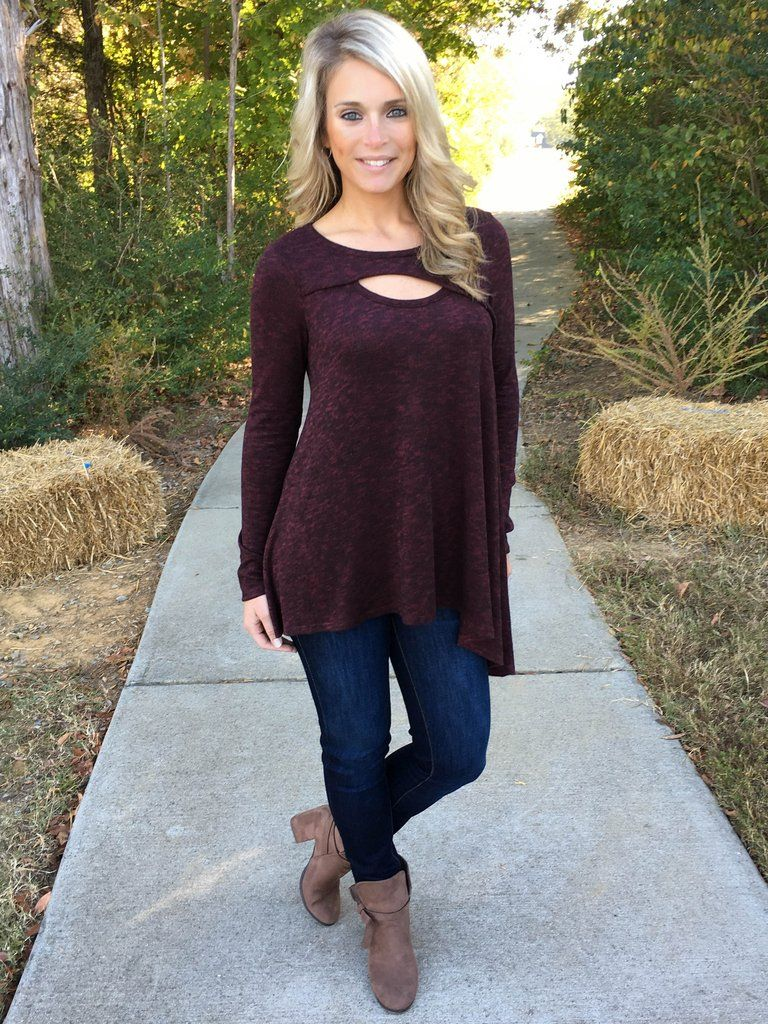 this adorable tunic is comfortable with a trendy twist. the cut
