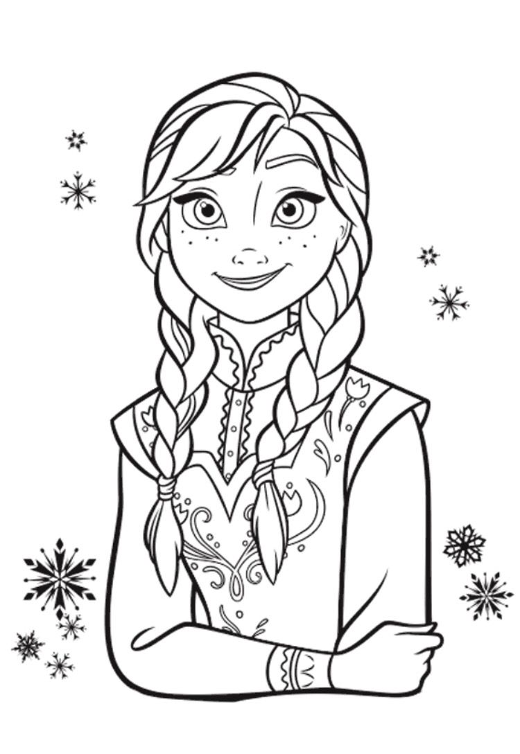 Frozen 2 Colouring Pages Elsa - Free Coloring Page
